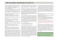 Effets de la pollution atmosphérique sur la santé - Arehn