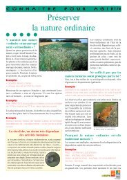 Préserver la nature ordinaire - Arehn
