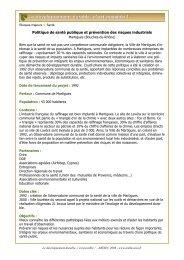 Santé publique et prévention des risques à Martigues - Arehn