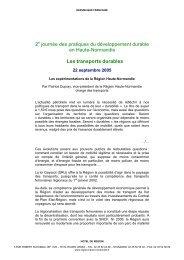 Les expérimentations de la Région Haute-Normandie - Arehn