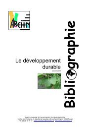 Le développement durable - Arehn