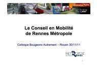 Le Conseil en Mobilité de Rennes Métropole - Arehn