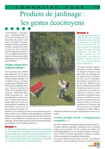 Produits de jardinage : les gestes écocitoyens - Arehn