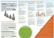 Dépliant pour convaincre les parents de participer au vélobus - Arehn