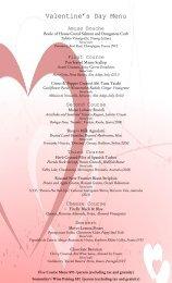 Valentine's Day Menu - Brabo