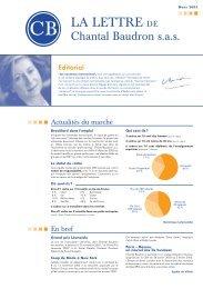 Newsletter Mars 2003 - Chantal Baudron