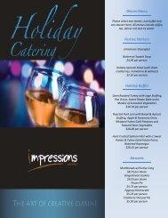 Dinner Menu Festive Starters Holiday Buffet ... - Dineoncampus.ca