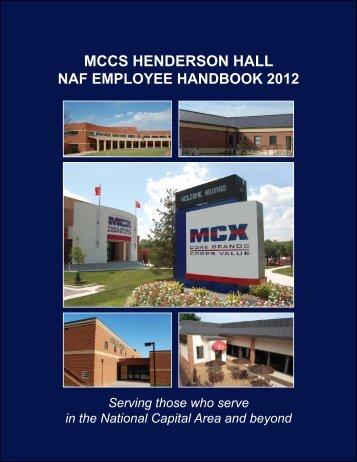 mccs henderson hall naf employee handbook 2012 - Marine Corps ...