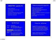 OBJECTIFS: question 46 Soins et précarité: objectifs Epidémiologie ...
