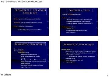 erosions et ulcerations muqueuses conduite a tenir diagnostic ...