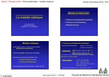 La maladie c? - Faculté de médecine de Montpellier