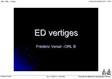 ED vertiges - Faculté de médecine de Montpellier