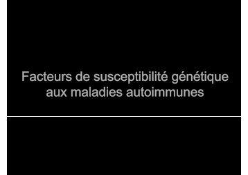 Facteurs génétiques de susceptibilité aux MAI