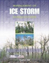 management of ice storm damaged stands - Ministère des ...