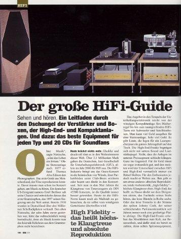 """Für 300.000 DM ins Sound Nirvana"" - U. Kirbach - Audioplan"