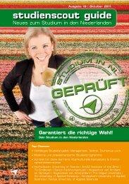 studienscout guide - Studium in den Niederlanden