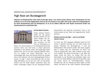 High Noon am Bundesgericht