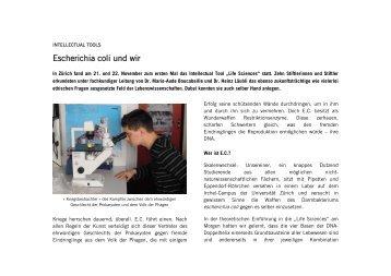 Escherichia coli und wir - Schweizerische Studienstiftung
