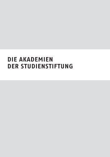 Sommerakademien der deutschen Stiftung - Studienstiftung.ch