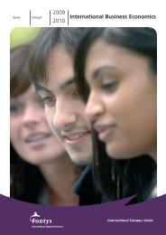 2009 2010 International Business Economics - Studieren in Holland