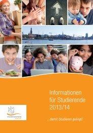 Informationen für Studierende 2013/14 - Studierendenwerk Hamburg