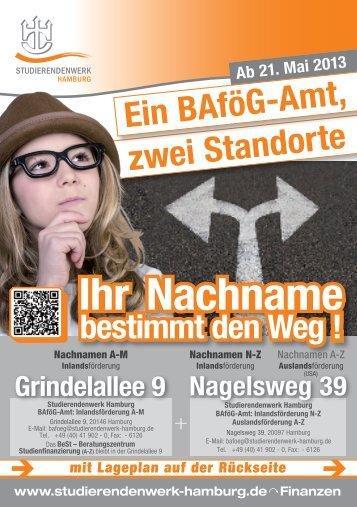 Informationen im Flyer - Studierendenwerk Hamburg