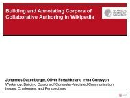 Building and Annotating Corpora of Collaborative ... - StudiGer