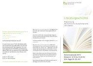 Ringvorlesung Literaturgeschichte - StudiGer - TU Dortmund