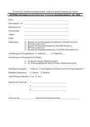 INTERNE Anmeldung zur mündlichen Prüfung (studienbegleitend ...
