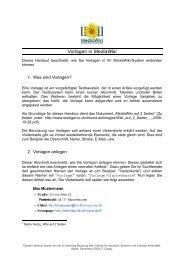 Vorlagen in MediaWiki - StudiGer - TU Dortmund