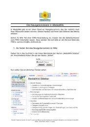 Navigation in MediaWiki - StudiGer - TU Dortmund
