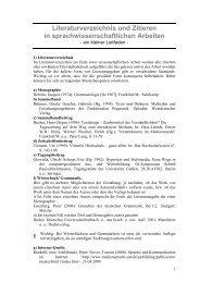 Literaturverzeichnis und Zitieren in ... - StudiGer