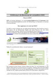 Einführung in EWS - StudiGer - TU Dortmund