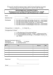 Offizielle Meldung zur mündlichen Prüfung - StudiGer - TU Dortmund