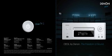 CEOL by Denon. The Freedom of Sound. - Studio 22