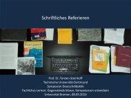 Schriftliches und mündliches Darstellen - StudiGer