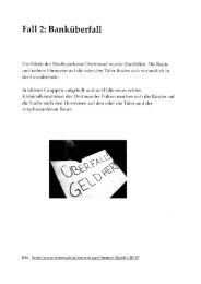 Fall 2: Banküberfall - StudiGer