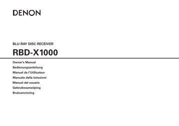 Denon DX-1000 Manual - Audio Products Australia