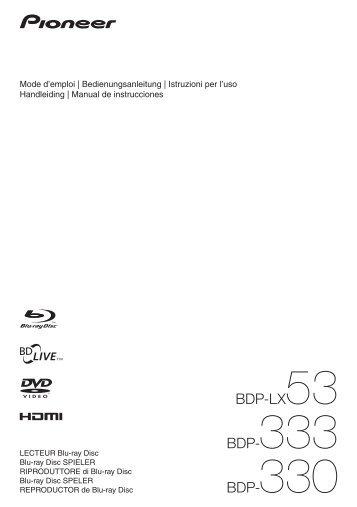 BDP-LX53 BDP-333 BDP-330 - Studio 22