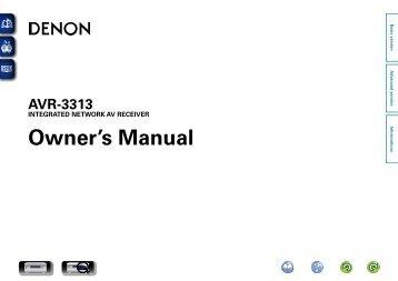 Denon AVR-3313 Manual - Audio Products Australia