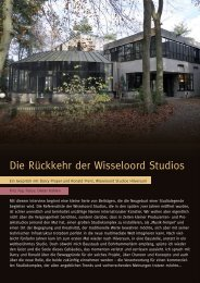 Die Rückkehr der Wisseloord Studios - Studio Magazin