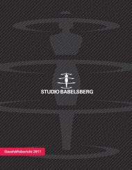 Geschäftsbericht 2011 - Studio Babelsberg