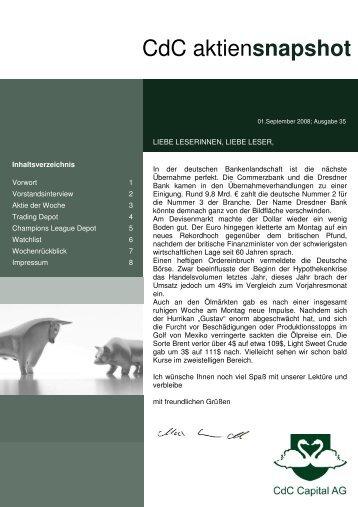 CdC aktiensnapshot - Studio Babelsberg