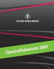 Annual Report 2007 - Studio Babelsberg