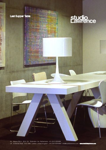 Download Productsheet Last Supper Table - Studio Lawrence