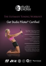 download course outline here - Studio Pilates