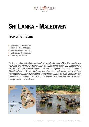 Sri Lanka - Malediven - Studiosus Reisen München GmbH
