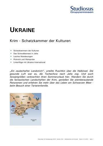 UKRAINE - Studiosus Reisen München GmbH