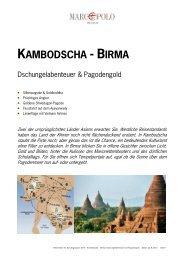 KAMBODSCHA - BIRMA - Studiosus Reisen München GmbH