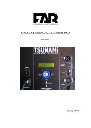 OWNERS MANUAL TSUNAMI 10 D